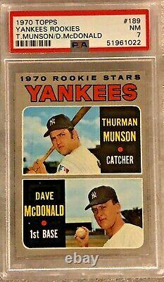 1970 Topps #189 Thurman Munson RC PSA 7 New York Yankees Hall of Fame