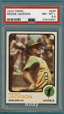 1973 Topps Reggie Jackson #255 PSA 8.5! Athletics! Mr. October! Hall-of-Fame
