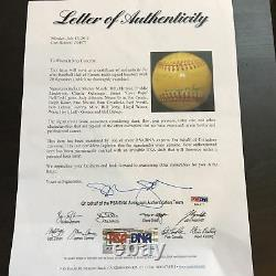 1974 Mickey Mantle Hall Of Fame Induction Day Multi Signed Baseball PSA DNA COA