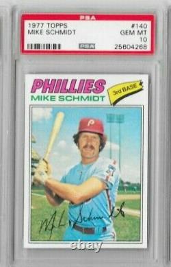 1977 Topps #140 Mike Schmidt PSA 10 GEM MINT Phillies Hall of Fame