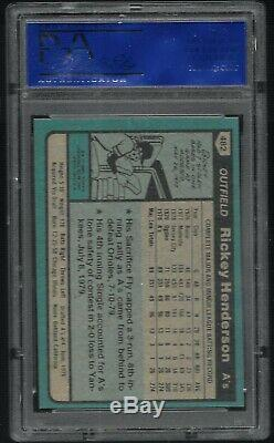 1980 Topps Rickey Henderson Athletics #482 PSA 9 MINT HALL OF FAME ROOKIE CARD