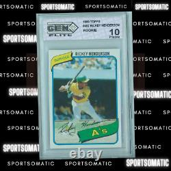 1980 Topps Rickey Henderson ROOKIE RC #482 GEM MINT 10 PRISTINE Hall of Fame RC