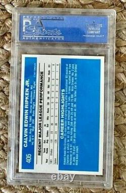 1982 Donruss Cal Ripken Jr. Rookie Card #405 PSA 9 Mint Hall of Fame Orioles