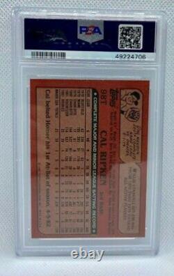 1982 Topps Traded Cal Ripken Jr. Rookie Card PSA 9 Mint Orioles Hall of Fame