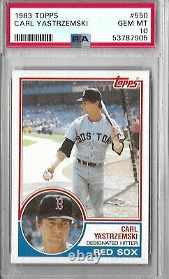 1983 Topps #550 Carl Yastrzemski PSA 10 GEM MINT Boston Red Sox Hall of Fame