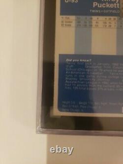 1984 Fleer Update Kirby Puckett Twins 88 SGC 8 NM-MT+ Rookie Card HALL OF FAME