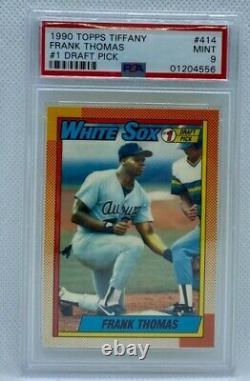 1990 Topps Tiffany Frank Thomas #414 PSA 9 Mint Hall Of Fame White Sox