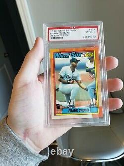1990 Topps Tiffany Frank Thomas # 414 Rookie PSA 9 2014 Hall of Fame White Sox