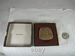 1991 Hank Greenberg Magnes Jewish Hall of Fame Museum Bronze Medal Detroit Tiger