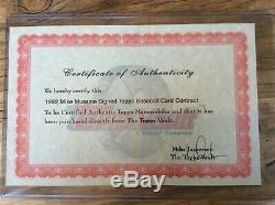 1992 Topps Baseball Card Signed Contract MIKE MUSSINA ORIOLES MLB HALL OF FAME
