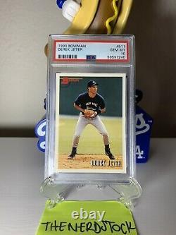1993 Bowman Derek Jeter #511 RC Rookie Card PSA 10 (HALL OF FAME) New Label