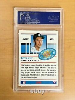 1993 SCORE DEREK JETER ROOKIE CARD #489 PSA 10 GEM MINT HALL of FAME