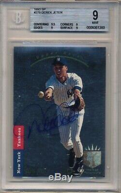 1993 SP Derek Jeter BGS 9 (9.5,9,9,9) RC Auto Steiner Hall of Fame Yankees Read