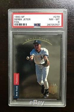 1993 SP Foil #279 Derek Jeter RC PSA 8 New York Yankees Hall Of Fame Rookie