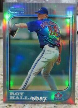 1997 BOWMAN CHROME REFRACTOR ROY HALLADAY ROOKIE CARD HALL of FAME RARE