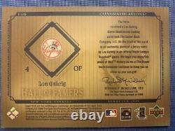 2001 Upper Deck LOU GEHRIG Hall of Fame Cooperstown Game Jersey J-LG SP