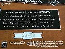 2004 LEAF LIMITED #LL-21 TY COBB Pants 23/50 DETROIT TIGERS Hall Of Fame K8