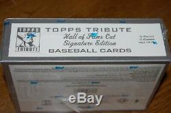 2004 Topps Tribute Baseball Hall of Fame Cut Signature Edition Hobby Box