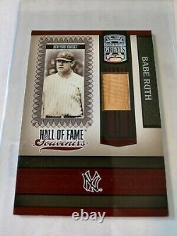 2005 Donruss Greats Babe Ruth Bat Card Hall Of Fame Souvenirs