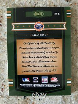 2005 Donruss Prime Patches Hall of Fame Nolan Ryan Auto/Quad Relic TRUE 1/1