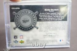 2005 Upper Deck Hall Of Fame Kirby Puckett Auto Card Jersey Patch Twins