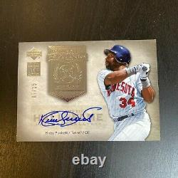 2005 Upper Deck Hall Of Fame Kirby Puckett Auto Signed Baseball Card #7/15