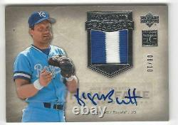 2005 Upper Deck Hall of Fame George Brett Auto Jersey Patch Card 8/10 Silver