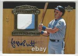 2005 Upper Deck Hall of Fame George Brett Auto Jersey Patch card Gold /5