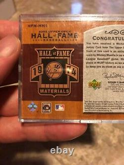 2005 Upper Deck Mickey Mantle Hall Of Fame #10/25 Jersey