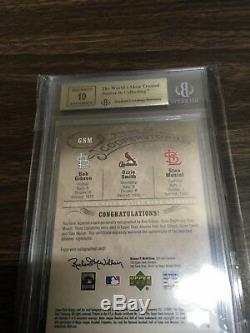 2005 ud HALL of fame STAN MUSIAL /20 auto GIBSON Ozzie Smith cardinals BGS 9.5
