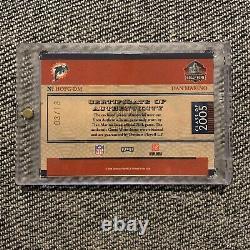 2006 National Treasures Hall Of Fame Greatness Dan Marino Auto 3/13 Dolphins