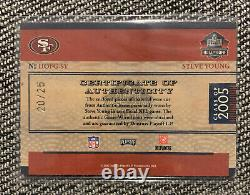 2006 National Treasures Hall Of Fame Greatness Steve Young Triple Patch Auto /25