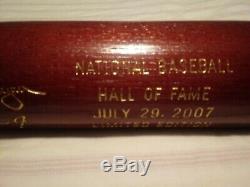 2007 Baseball Hall of Fame Induction Bat #1856/2007. Cal Ripken Jr. & Tony Gwynn