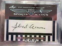 2010 Leaf Sports Icons Baseball Hall of Fame CUT AUTO SIGNATURE Hank Aaron WOW