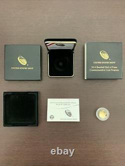 2014 Baseball Hall Of Fame Gold Coin In Original Box With COA