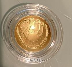 2014 Baseball Hall of Fame $5 Gold Uncirculated Coin US Mint Packaging