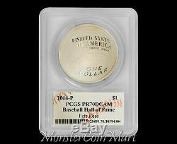 2014-P $1 Silver Baseball Hall of Fame PCGS PR70DCAM PETE ROSE AUTOGRAPHED
