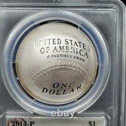 2014 P Baseball Hall of Fame Silver Commemorative $1 Pete Rose Signed PCGS PR69