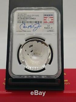 2014-P Silver $1 MLB Baseball Hall Of Fame PF70 Cal Ripken Hand Signed Autograph