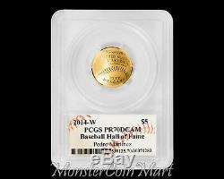 2014-W $5 Gold Baseball Hall of Fame PCGS PR70DCAM PEDRO MARTINEZ AUTOGRAPHED