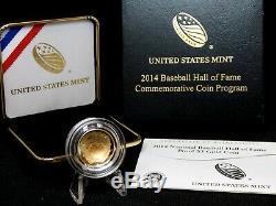 2014 W $5 Proof Gold National Baseball Hall of Fame Coin Box & COA ECC&C, Inc