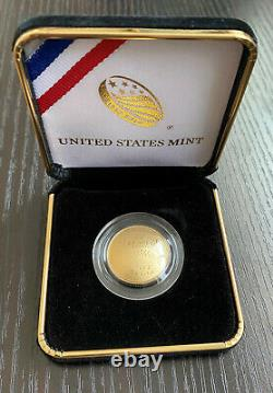 2014-W $5 US Mint Proof Gold Coin Baseball Hall of Fame HOF withBox Free Ship