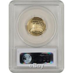 2014-W US Gold $5 Baseball Proof PCGS PR70 First Strike Hall of Fame Label