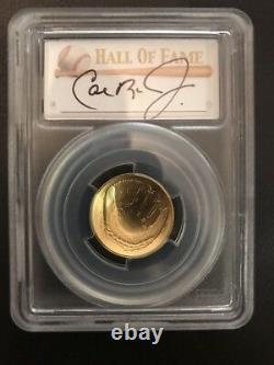 2014w CAL RIPKEN JR IRON MAN $5 PCGS MS70 Gold Baseball Hall of Fame HOF