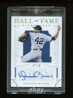 2019 National Treasures Hall Of Fame Signatures Mariano Rivera Auto /10