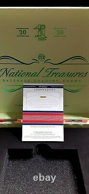 2020 Chipper Jones Hall Of Fame AUTO 01/10 PERFECT