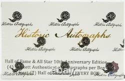 2020 Historic Autographs Hall Of Fame & All-star Baseball Hobby Box