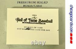 2020 Leaf Hall of Fame Baseball Cut Signature Edition Hobby Box 1 Cut Signature