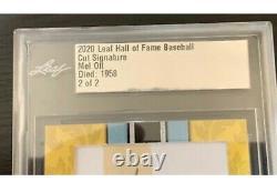2020 Leaf Hall of Fame Cut Signature Baseball Mel Ott Autograph #2/2