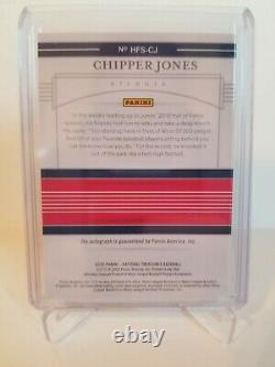 2020 National Treasures Chipper Jones Hall Of Fame Signatures On Card Auto 14/25
